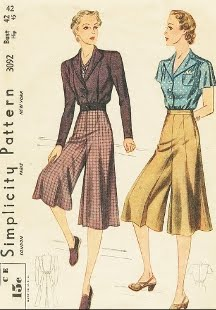 Image result for 1950s gaucho pants